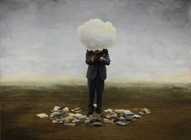 25.07.2014 Teun Hocks, Untitled (cloud) 2010, oil on toned gelatin silverprint, 43 1:4 x 56 1:4 inches, edition of 3, courtesy P.P.O.W. and the artist